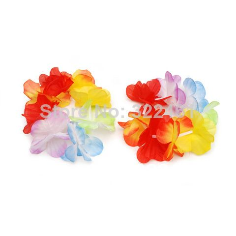 50pr/lot Hot selling facorty price 2014 Hawaiian Luau Lei Bracelet - Multicolor - 2 pieces/set  free shipping  US $19.69