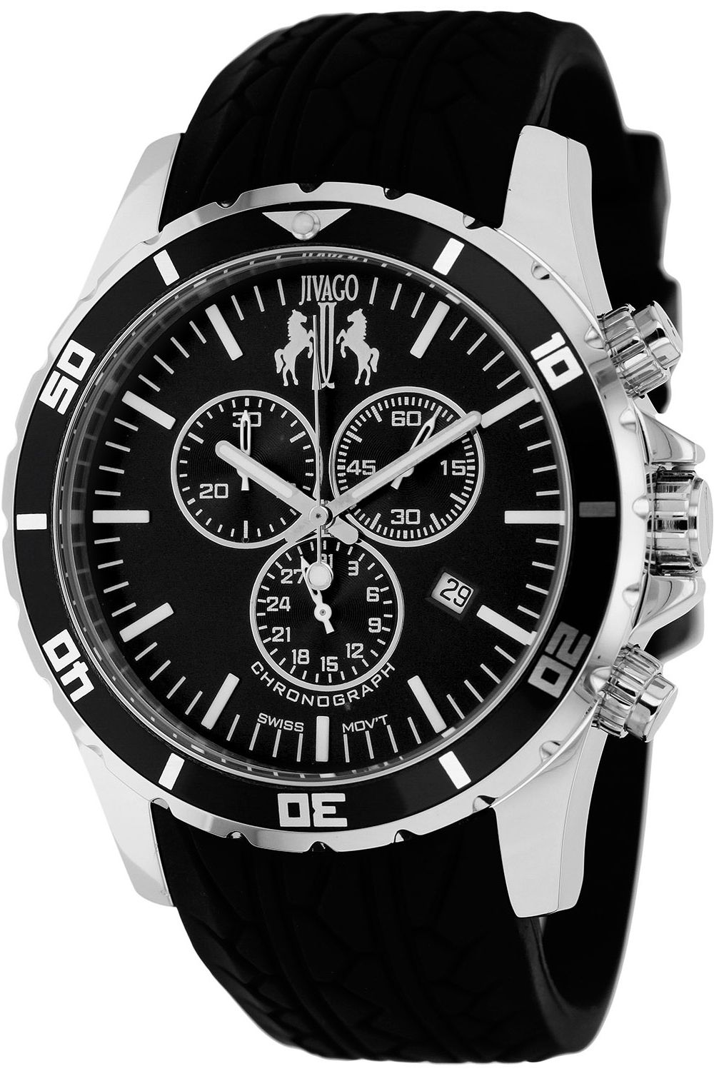 Elegant and stylish. This Jivago watch is perfect
