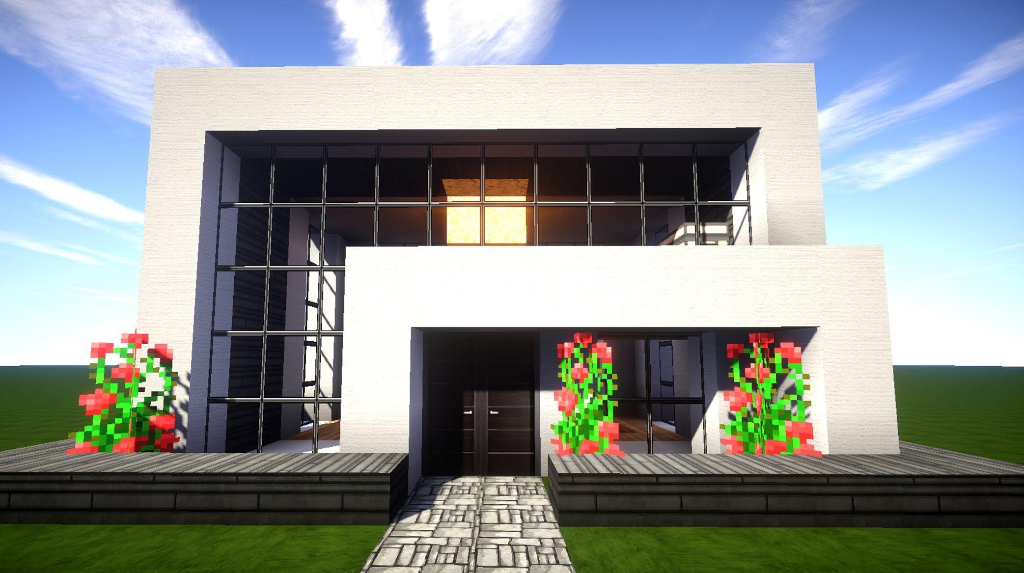 Minecraft Modernes Haus Bauen Anleitung Ideen Für Jugendzimmer Mit - Minecraft hauser bauen tutorial