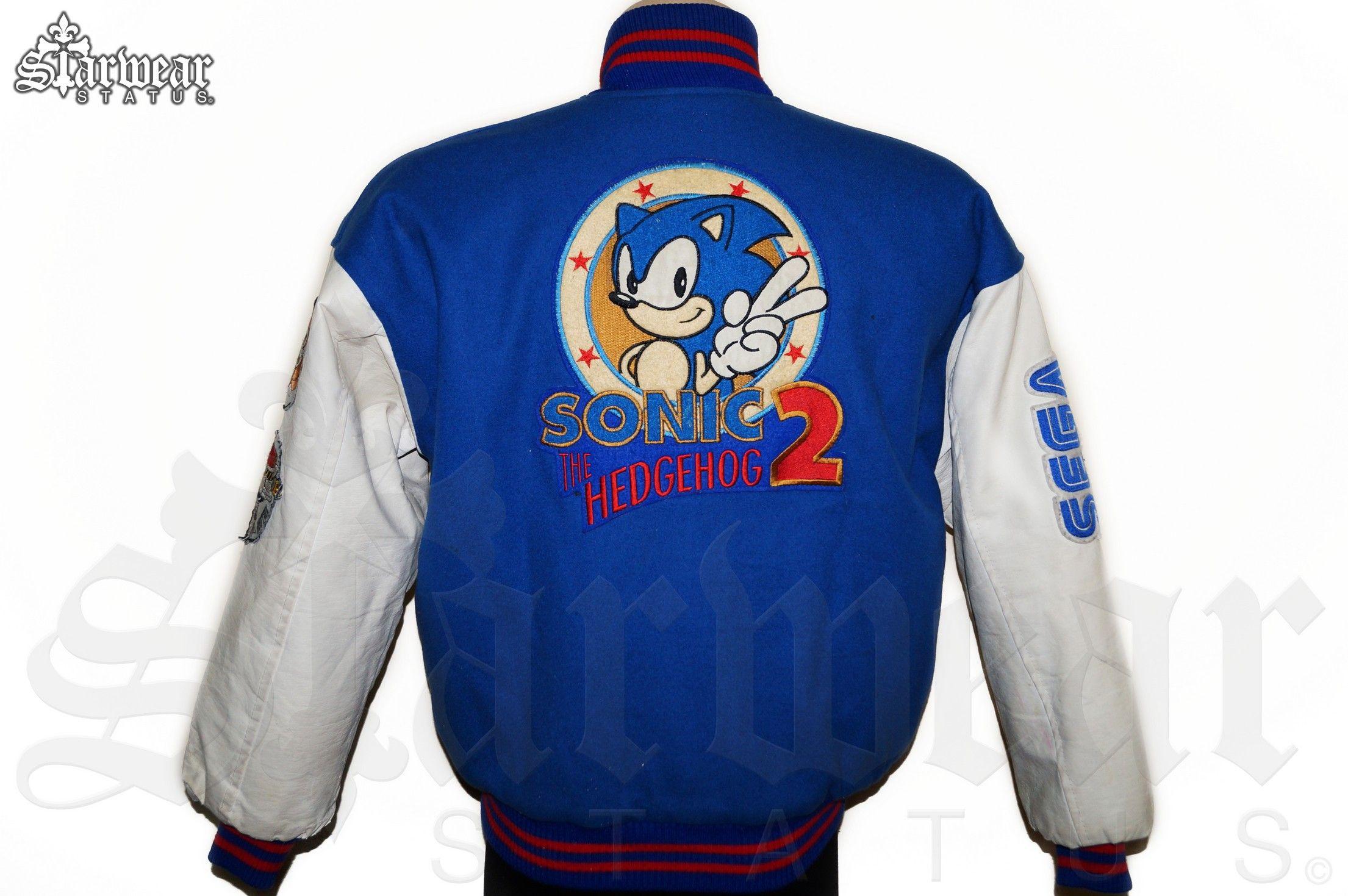 Sonic The Hedgehog 2 Game Crew Varsity Jacket Video Game Development Classic Sonic Sonic