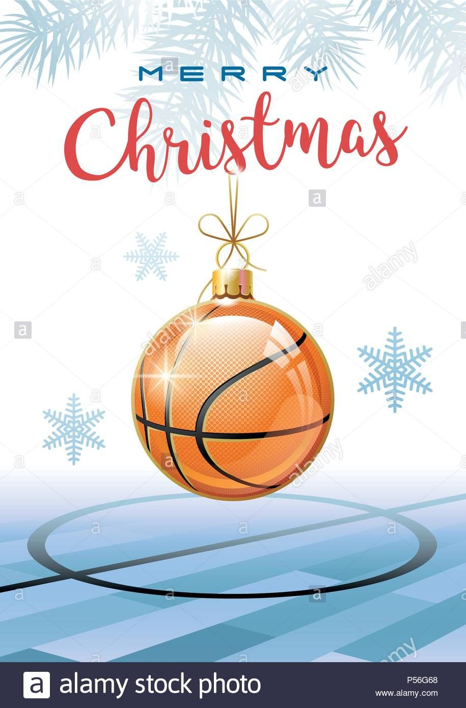 Auguri Di Natale Per Sportivi.Esegui Il Download Di Questo Vettoriale Stock Auguri Di Buon Natale Sport Biglietto Di Auguri Realistico Basket Ball Buon Natale Natale Biglietto Di Auguri