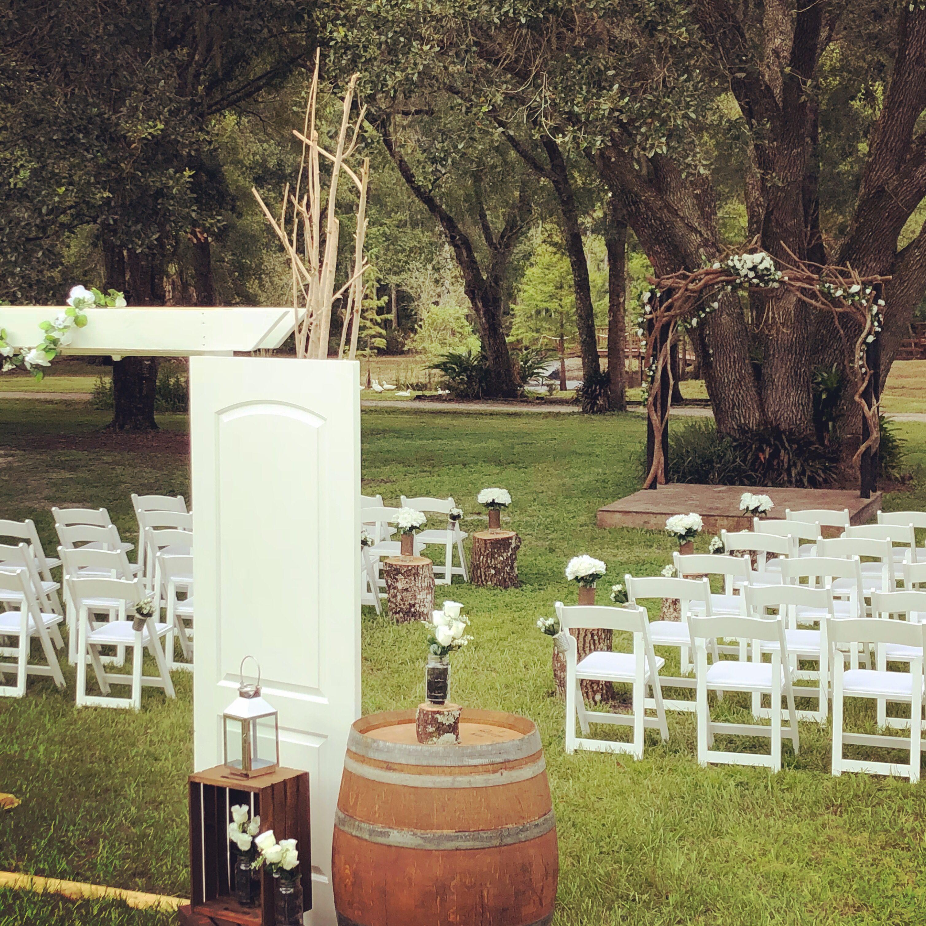 Ceremony at Cypress Creek Event Venue Rustic elegance ...