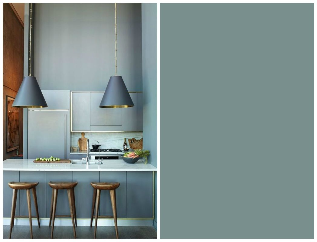 Cucina color Oval Room Blue Farrow and Ball  paint in
