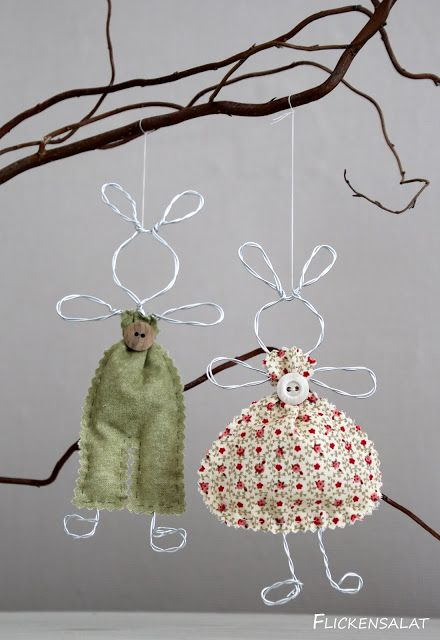 Photo of Wire bunnies – Easter bunnies