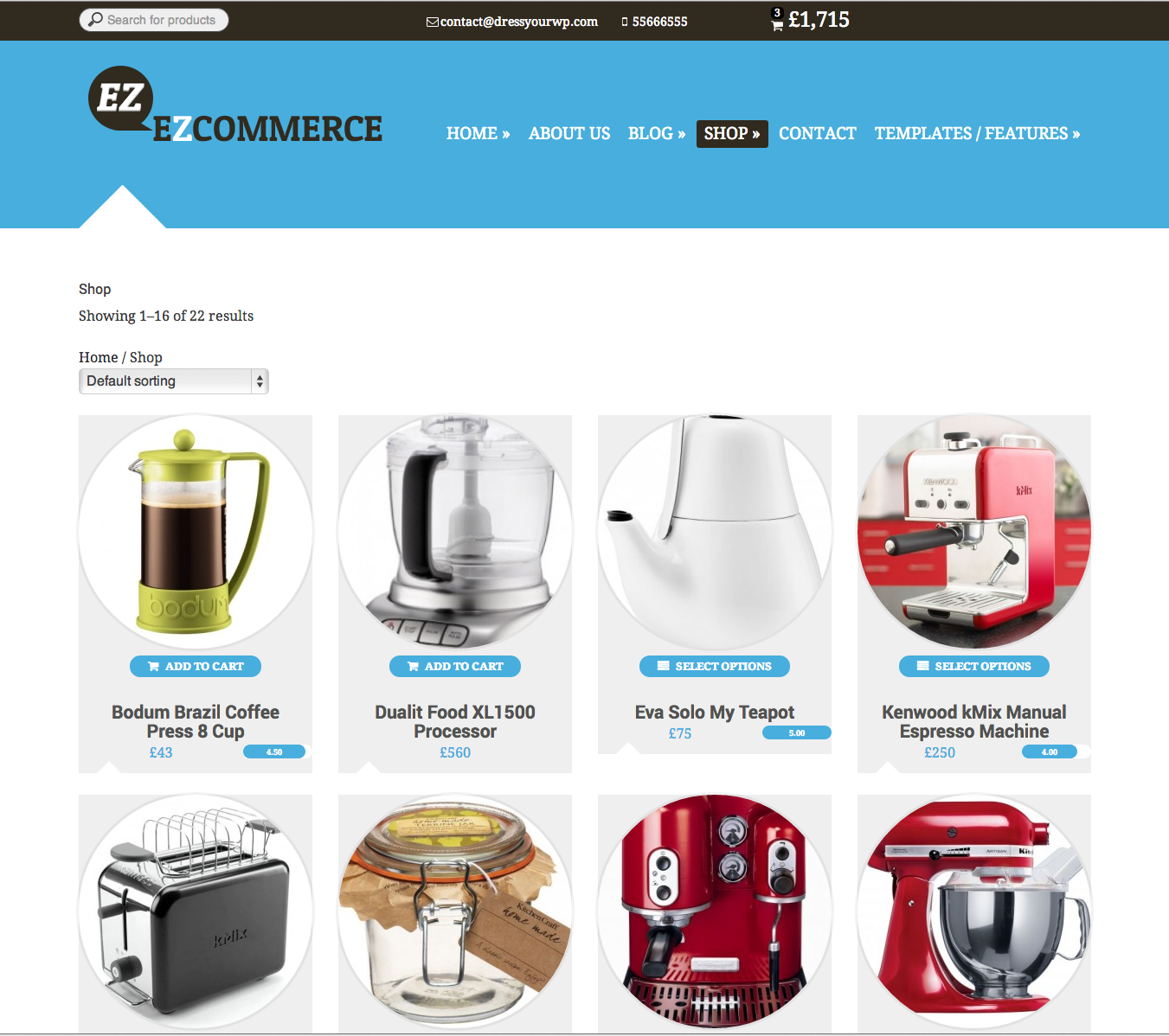EZ Commerce Responsive WordPress Theme - Mojo Themes #wordpress ...