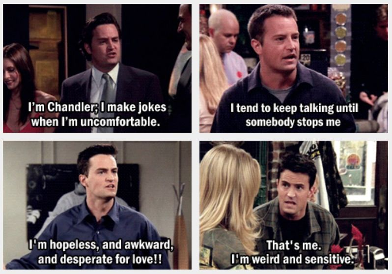 Chandler Bing Friends Friends Tv Quotes Friends Moments