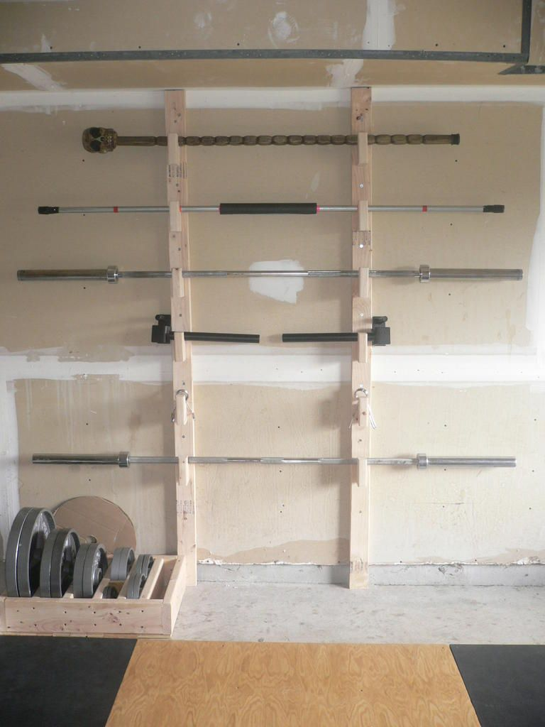 Homemade barbell rack fitness home gym design diy home gym