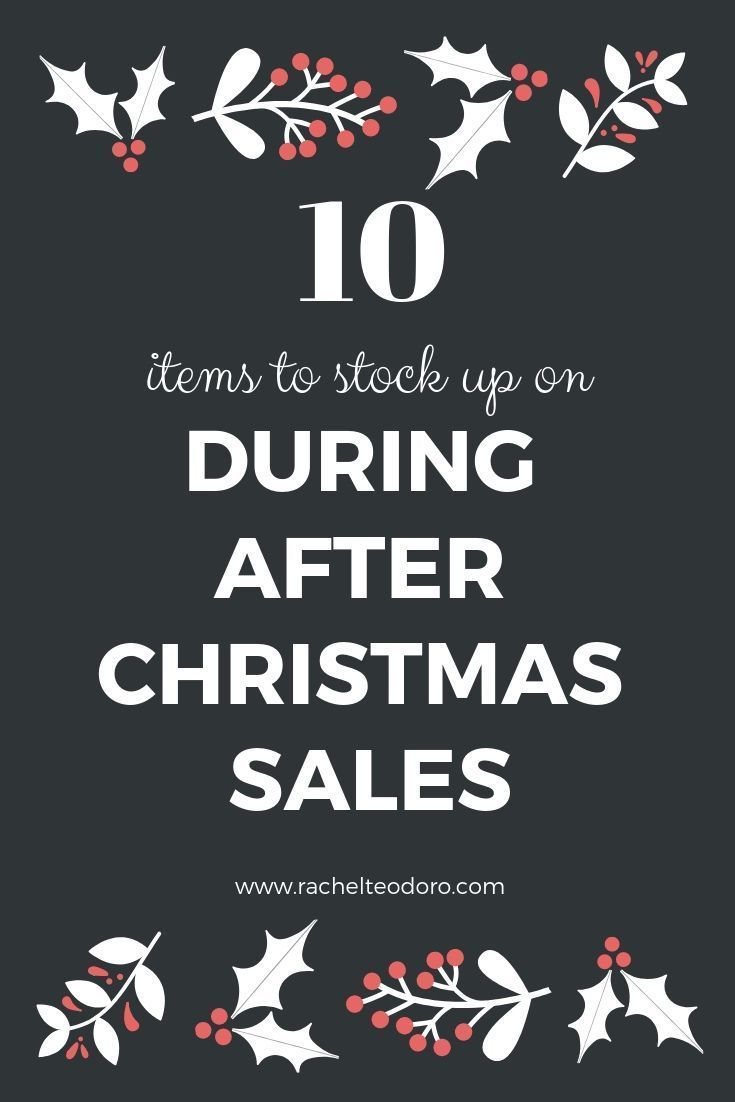 10 Items to Stock Up on at After Christmas Sales #christmasdeals #holidayshopping #afterchristmas #sales #frugalliving #frugal #whattobuy #savingmoney #moneysavingtips #christmas #christmasdecor