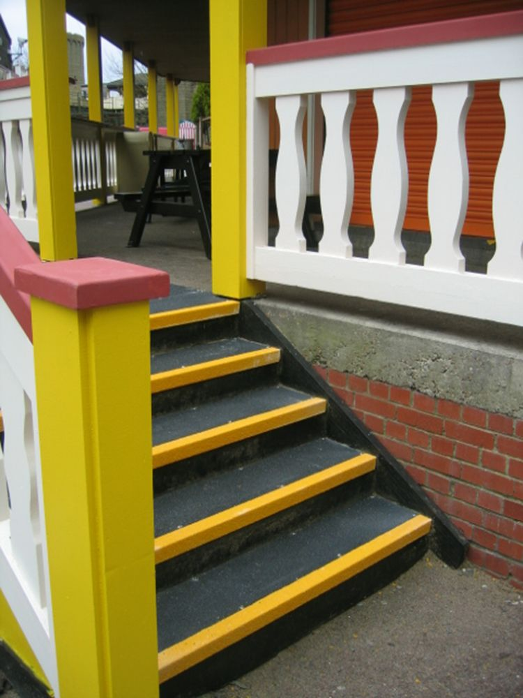 Deteriorating stair case made safe and secure with Dino