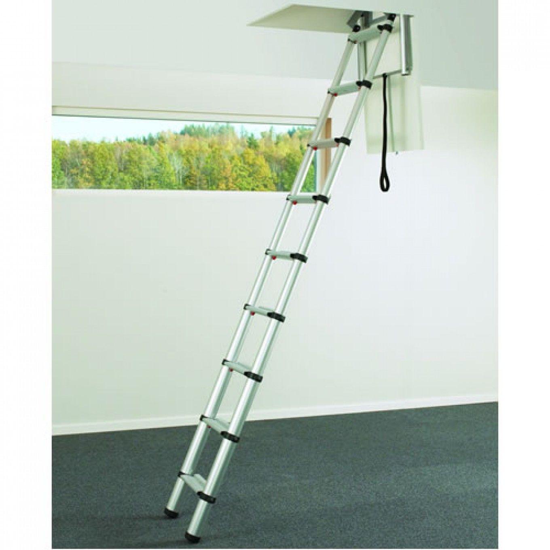 Telesteps 60324 Telescopic Loft Ladder For Small Hatch Sizes Loft Ladder Attic Renovation Attic Remodel