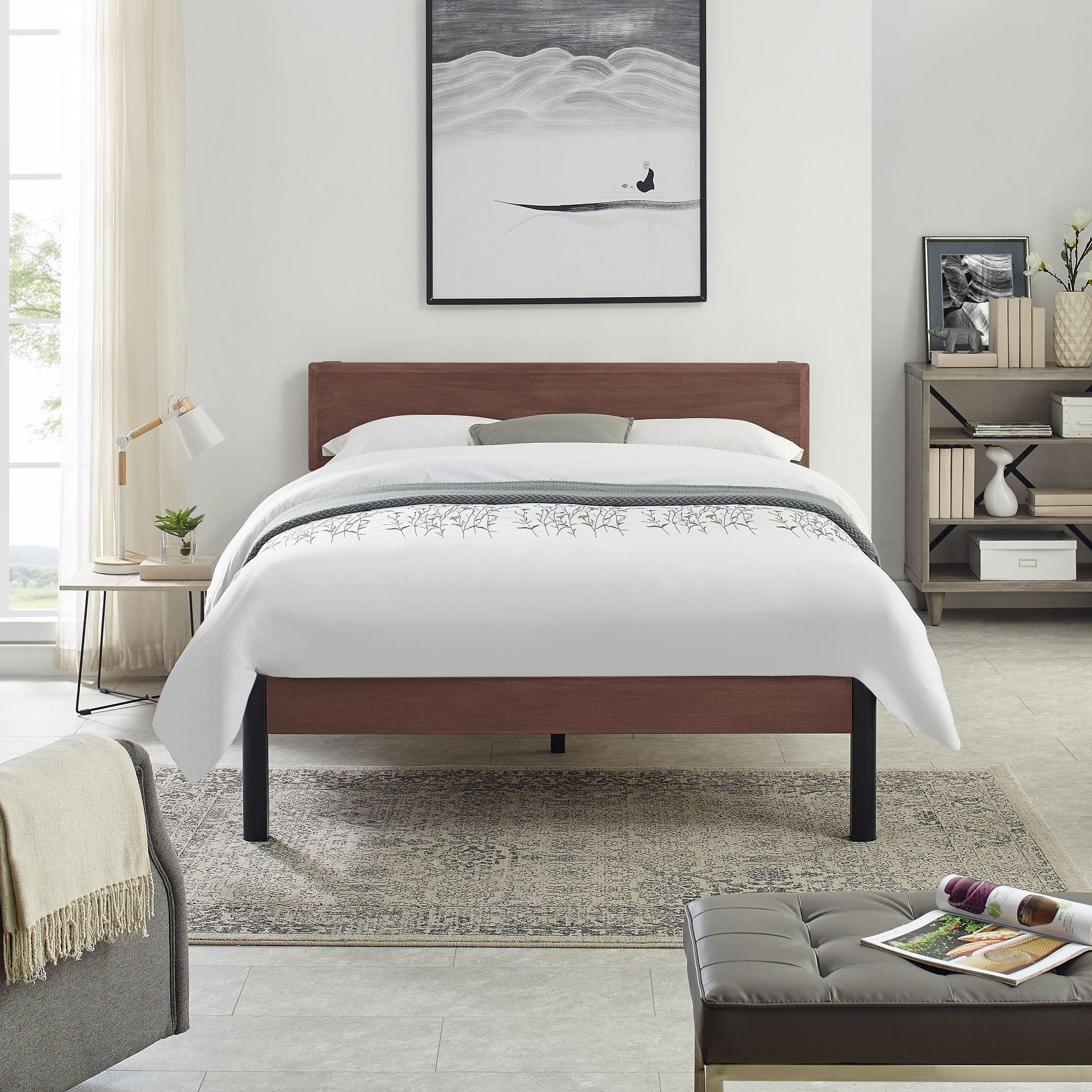 Home Bed Frame And Headboard Platform Bed Frame Metal Platform Bed