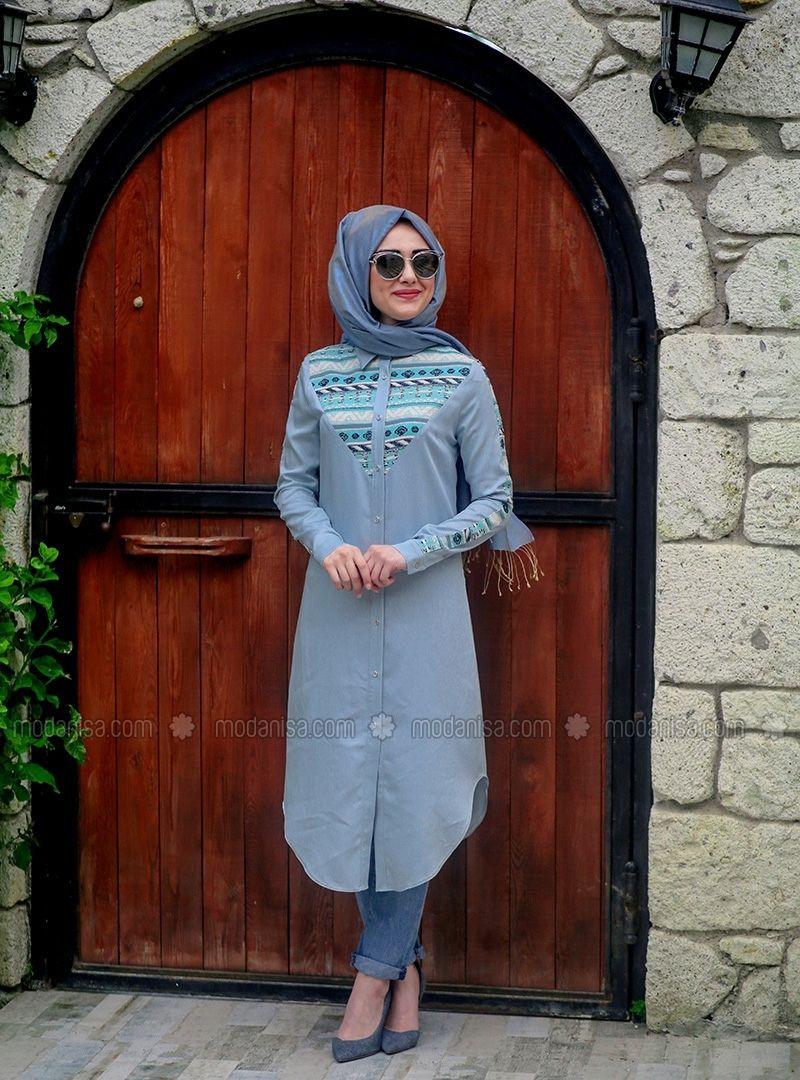 Sunny tunic maksim mint tunics modanisa mode pinterest