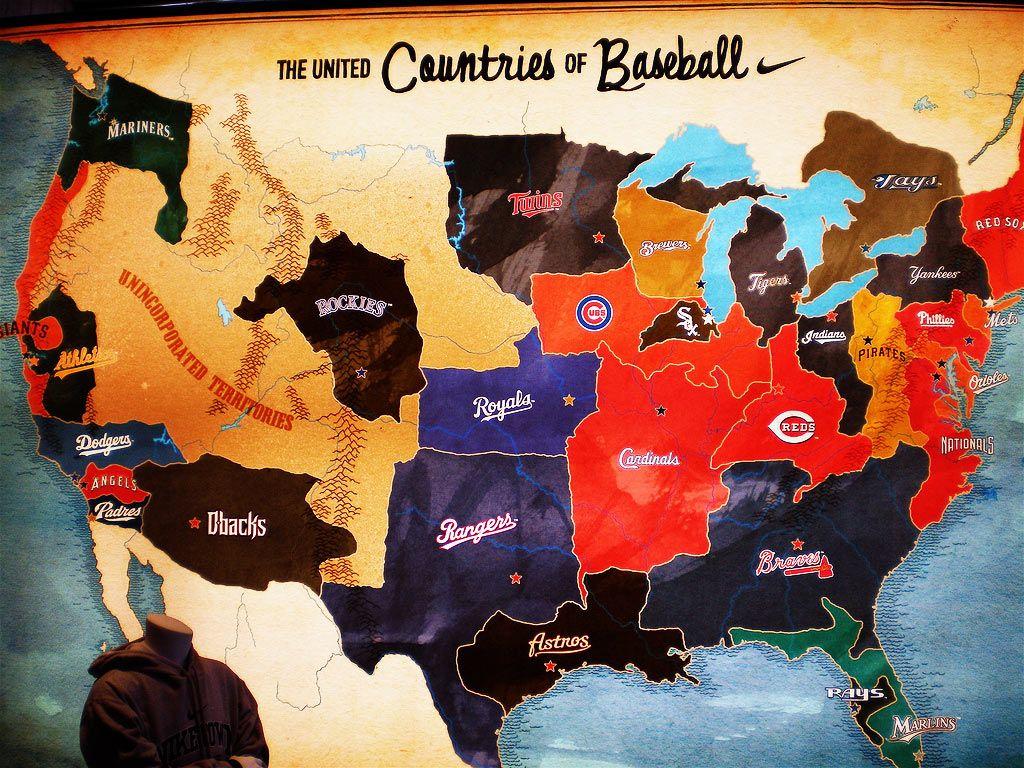 The United Countries Of Baseball 1024 X 768 Baseball Major League Baseball