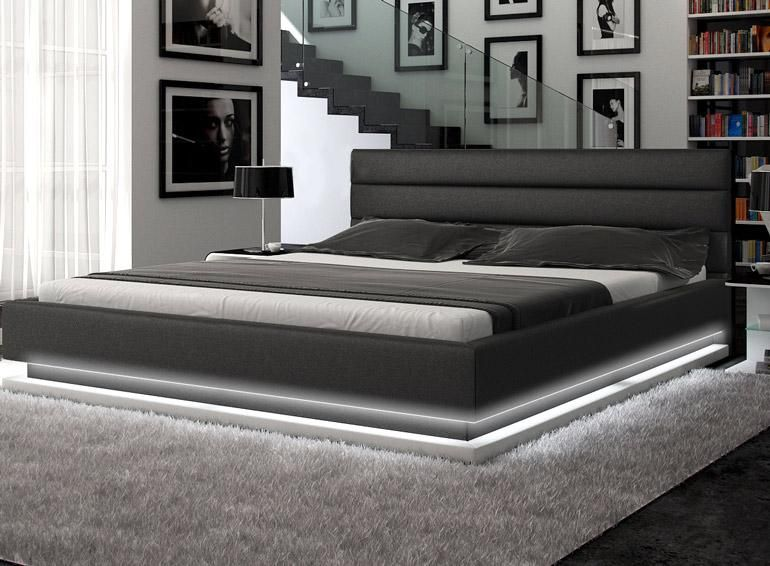 Queen Size Low Bed Part - 20: Incredible Platform Bed Lit With Light Emitting Diodes. Talk About Setting  A Romantic Mood!