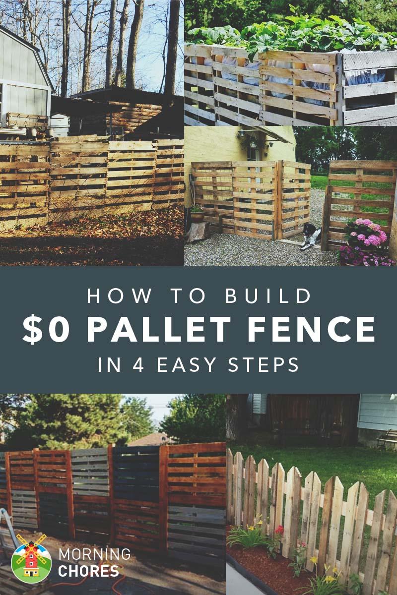 So bauen Sie einen Palettenzaun für fast 0 US-Dollar (und 6 Palettenzaun-Planungsideen)