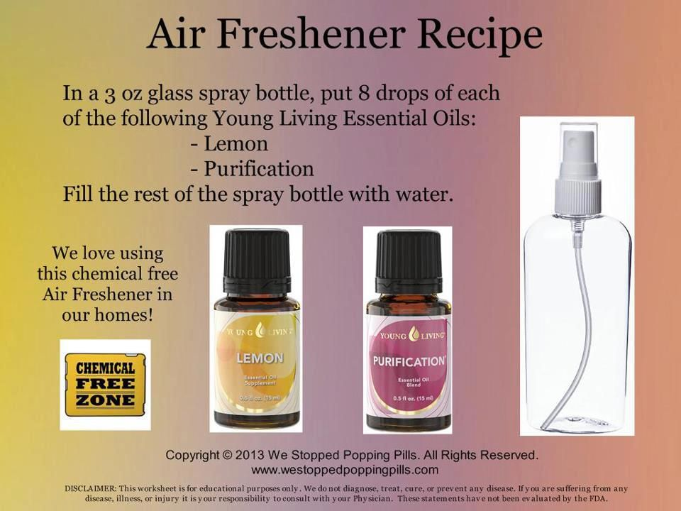 All Natural Air Freshener In A 3 Oz Glass Spray Bottle