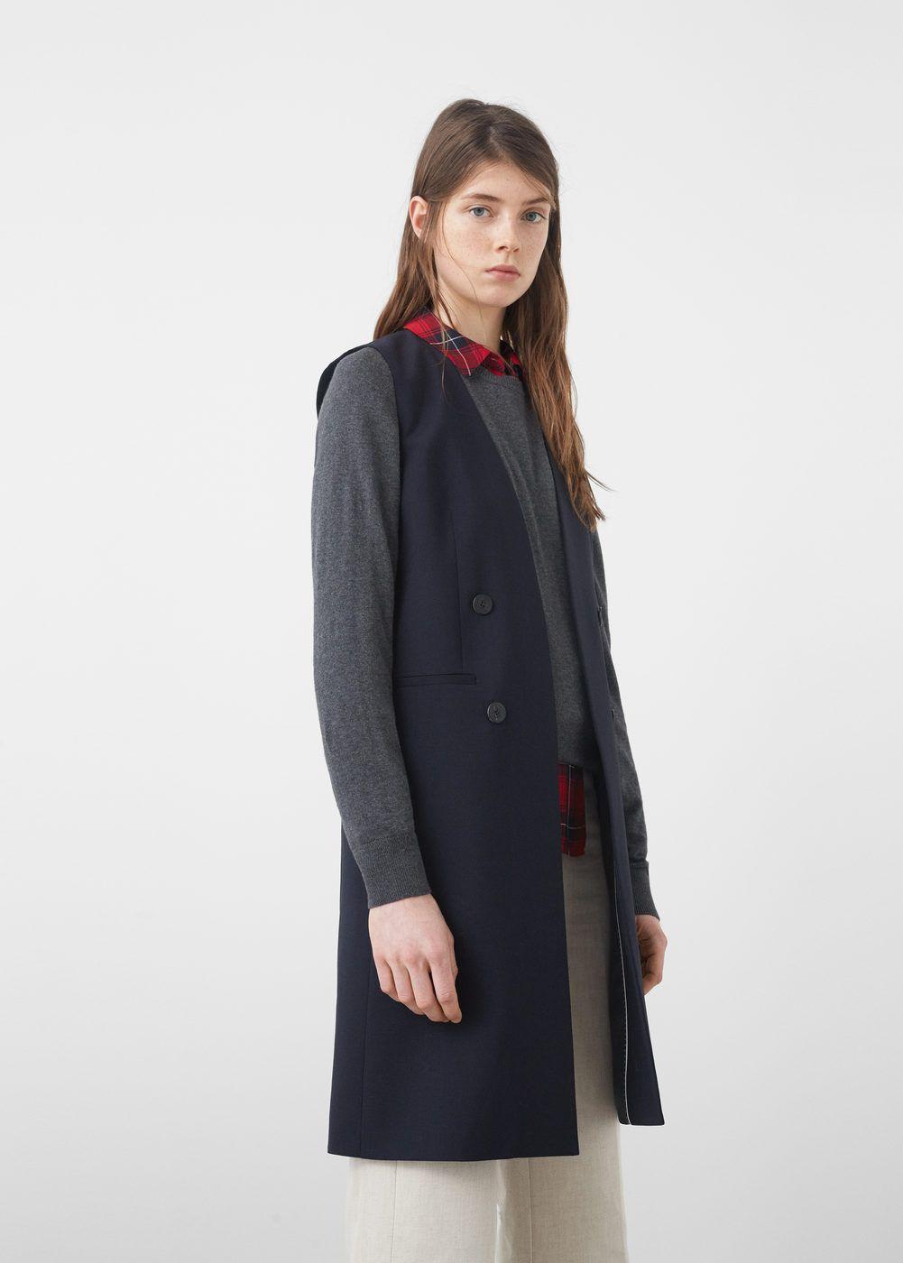 cd99874150cf Wool long gilet - Women | various things. | Wool, Jackets for women ...