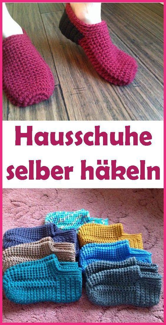 Chaussons au crochet – instructions simples pour les débutants   – Knitting For Beginners