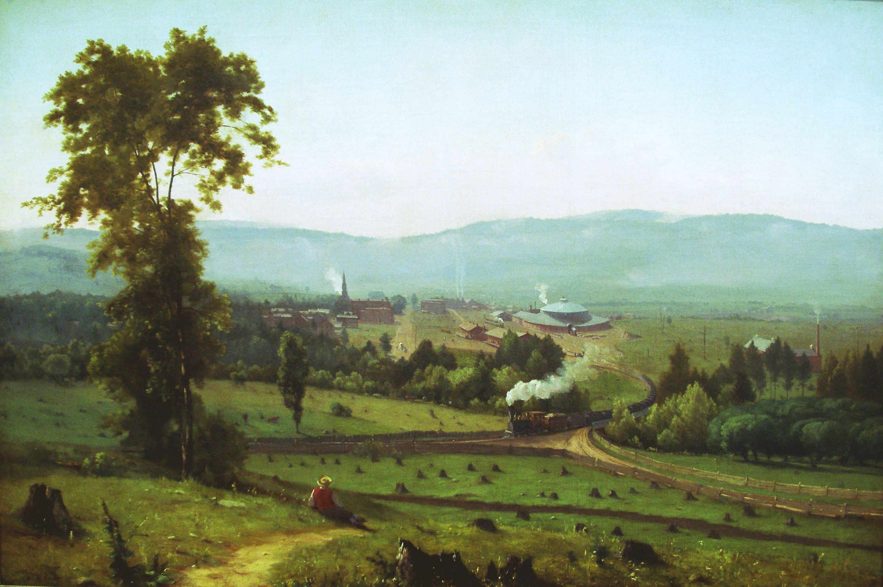 """George Inness and the Hudson River School: """"The Lackawanna Valley"""". Description from natres232.blogspot.com. I searched for this on bing.com/images"""