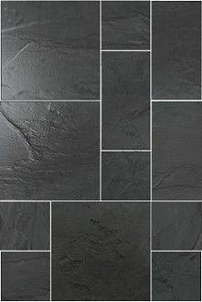 Rustic Black Slate Modular Calibrated