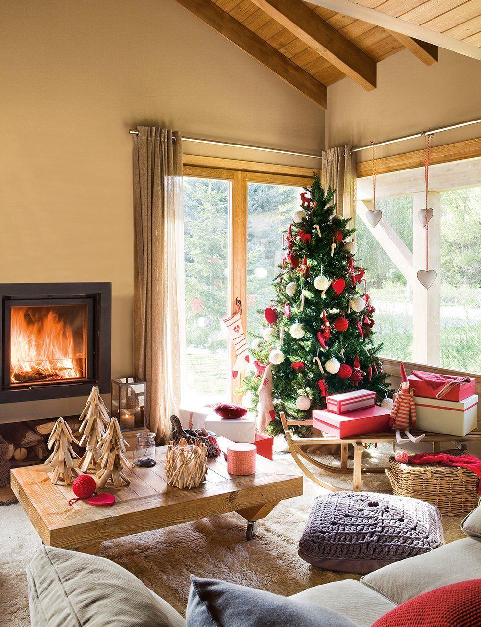 Noche de reyes en la monta a casas navidad y salones r sticos - Salones decorados para navidad ...