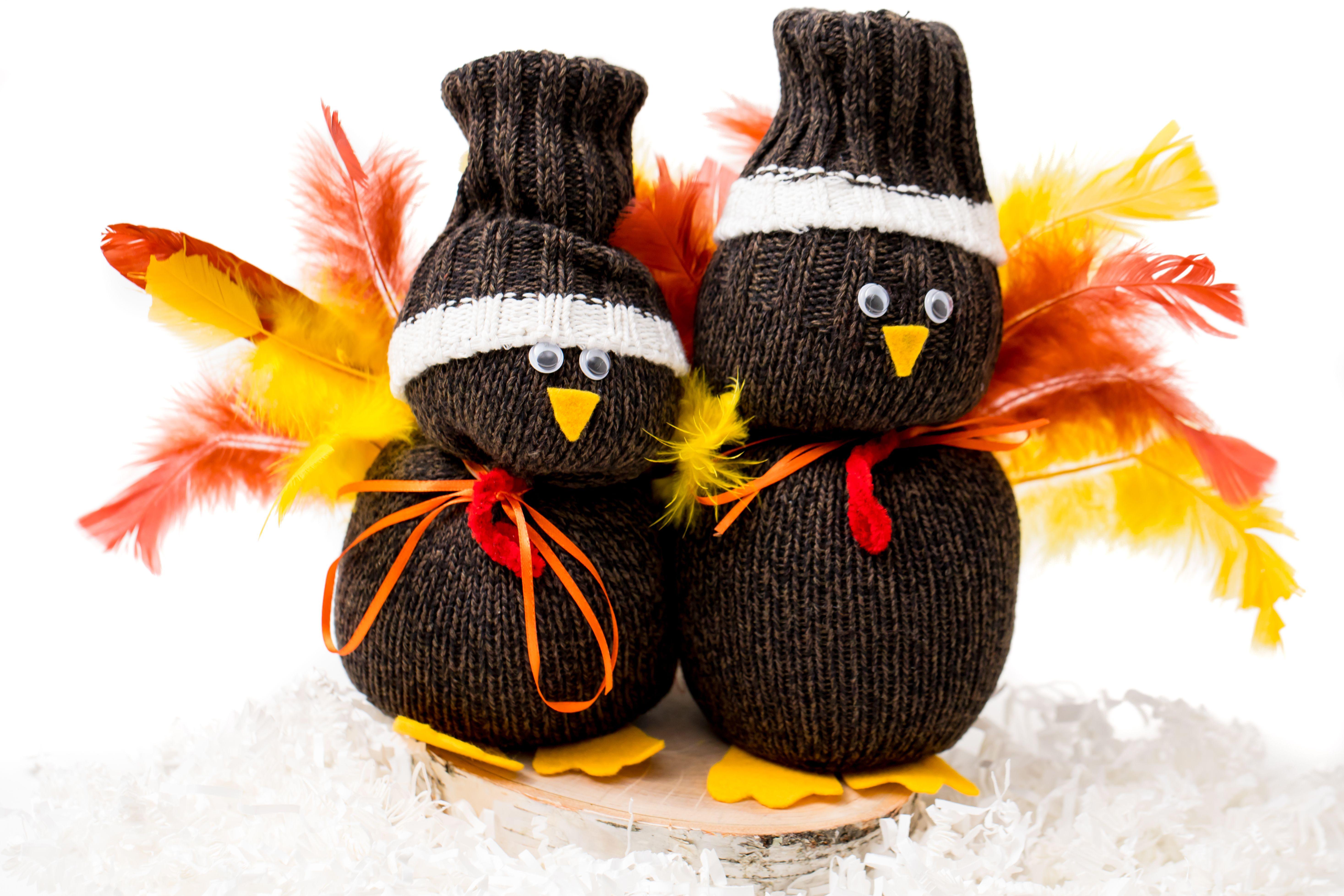 Sock turkey craft