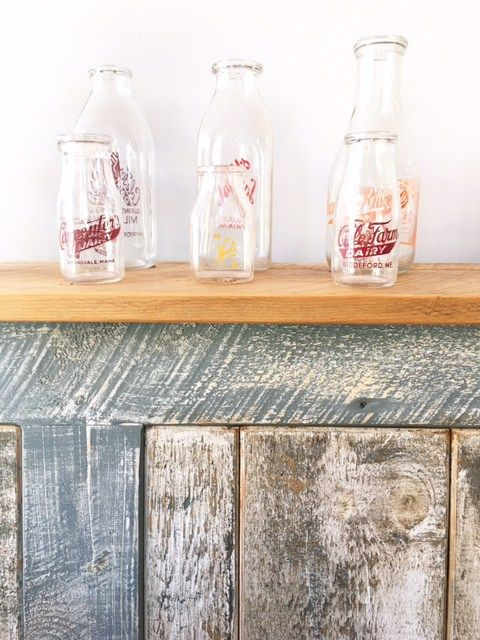 Bottles make the decor at Biscuits and Company in Biddeford