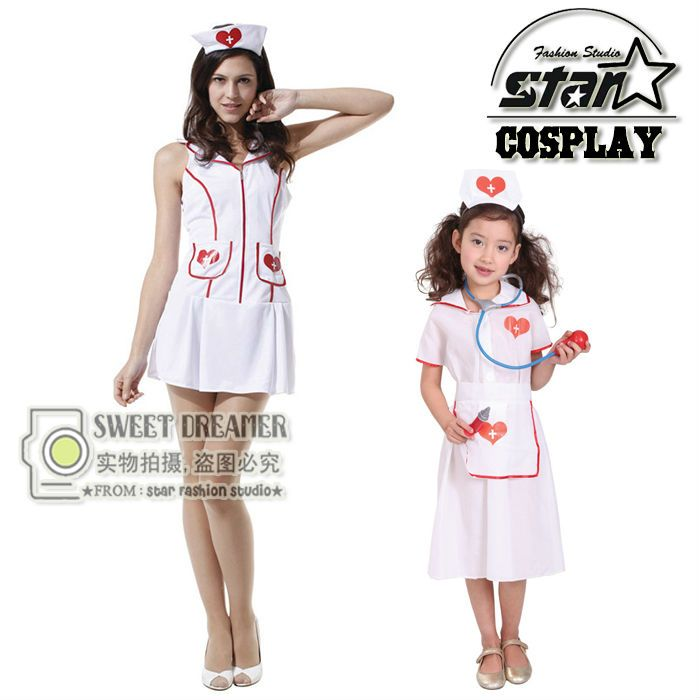 Mother Children Halloween Cosplay Matching Costume Kids Doctor Costume Nurse Uniform With Hat Family Mother Girls  sc 1 st  Pinterest & Mother Children Halloween Cosplay Matching Costume Kids Doctor ...