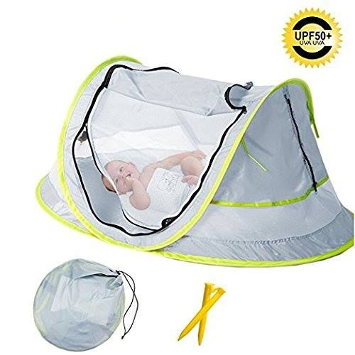 Baby Travel Tent Portable Bed Indoor Outdoor Crib Beach Upf 50 Uv Protection W Mosquito Net And 2 Pegs Grey For