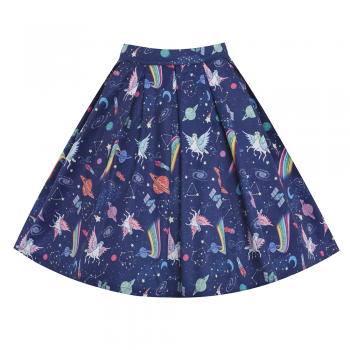 44588afca426 Peachy Space Unicorn Swing Skirt   1950's Inspired Fashion - Lindy Bop
