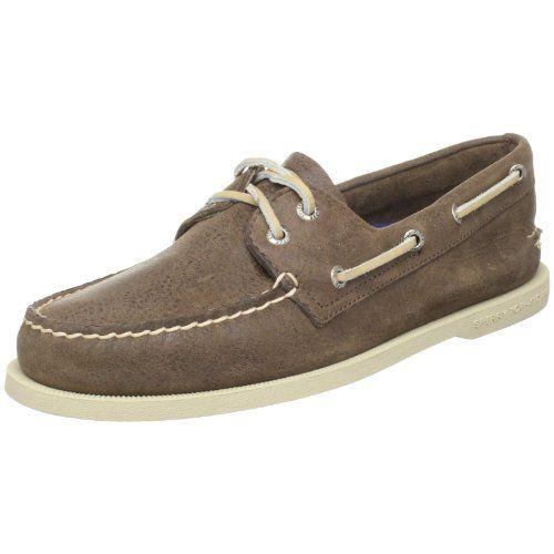 Sperry Top-Sider Men`s A/O Salt Wash Leather Boat Shoe,