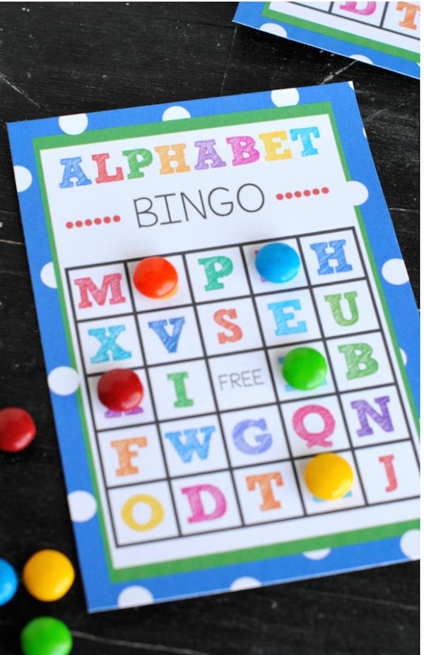 Resultado de imagen de juegos en ingles para infantil alphabet bingo