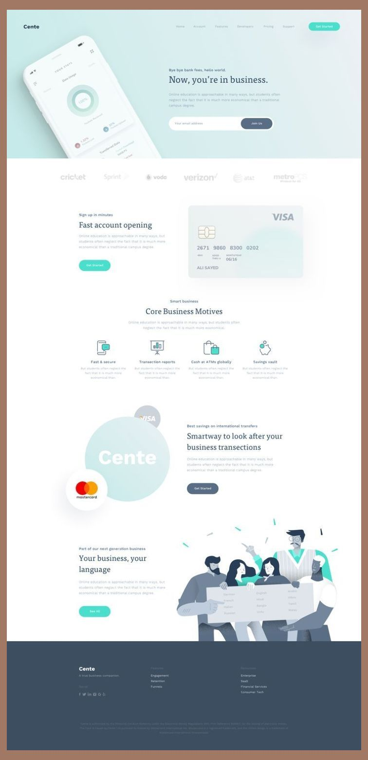Landing Page Design Tutorial Cente Landing Page Full Preview Landing Page Design Blue In 2020 Web Design Tips Landing Page Design Web Design Quotes
