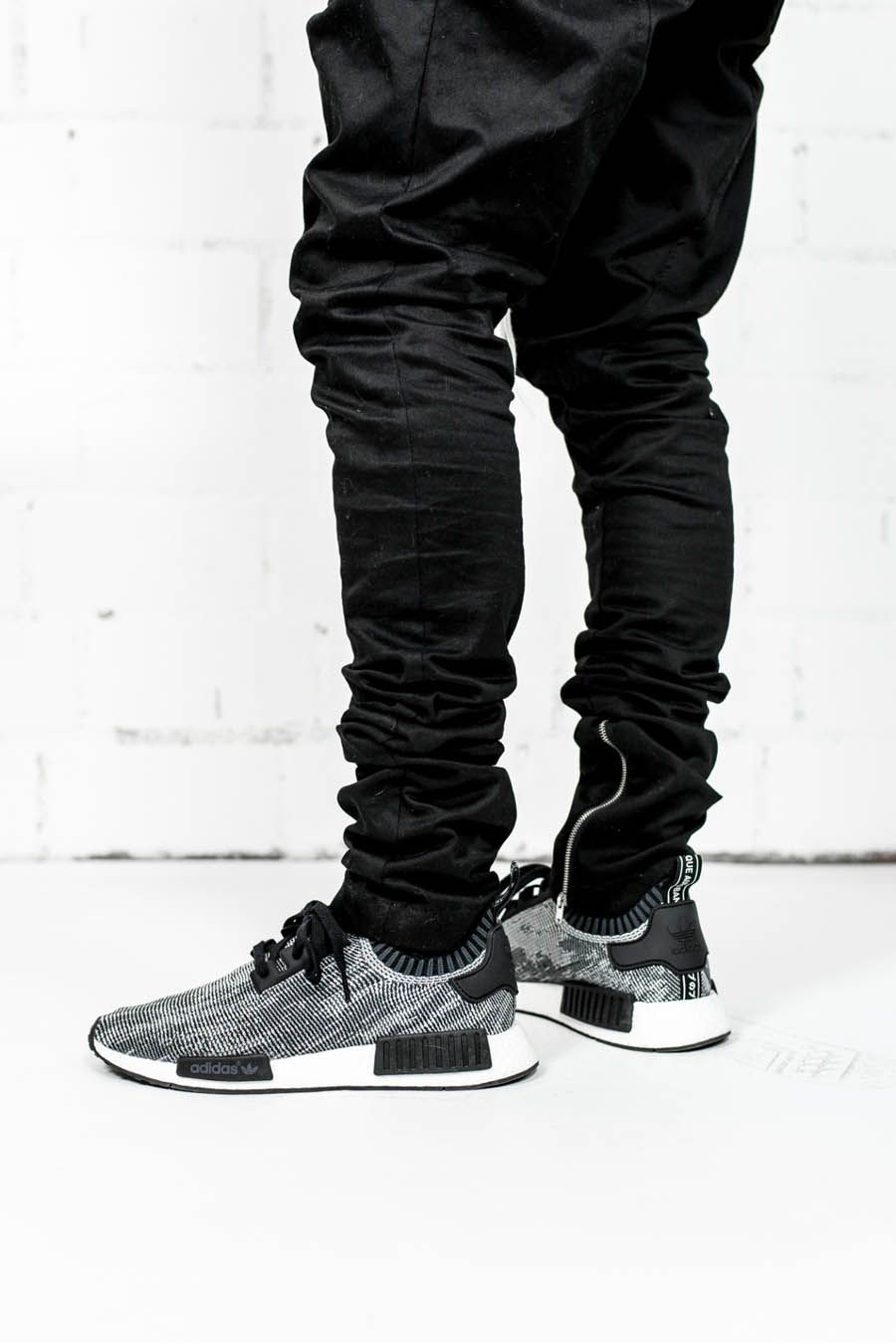 8025b516d3596 Slim Fit Cotton Pants × NMD Runner  streetwear
