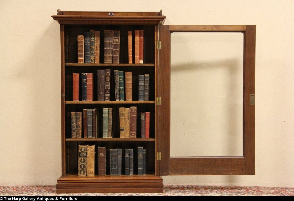 Victorian 1880 antique bookcase wavy glass door antique bookcase antique glass wavy desk details about victorian 1880 antique bookcase wavy glass door planetlyrics Image collections