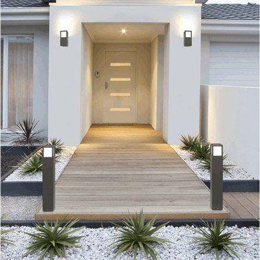 6 idées déco extérieure pour votre porte du0027entrée - allee d entree maison