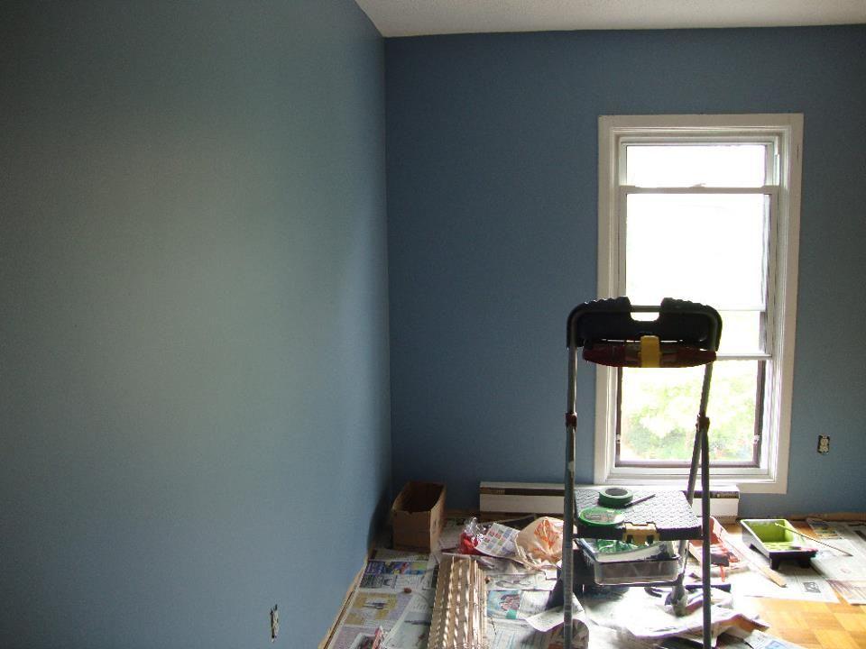 Color For Thomas Room Benjamin Moore Denim Wash