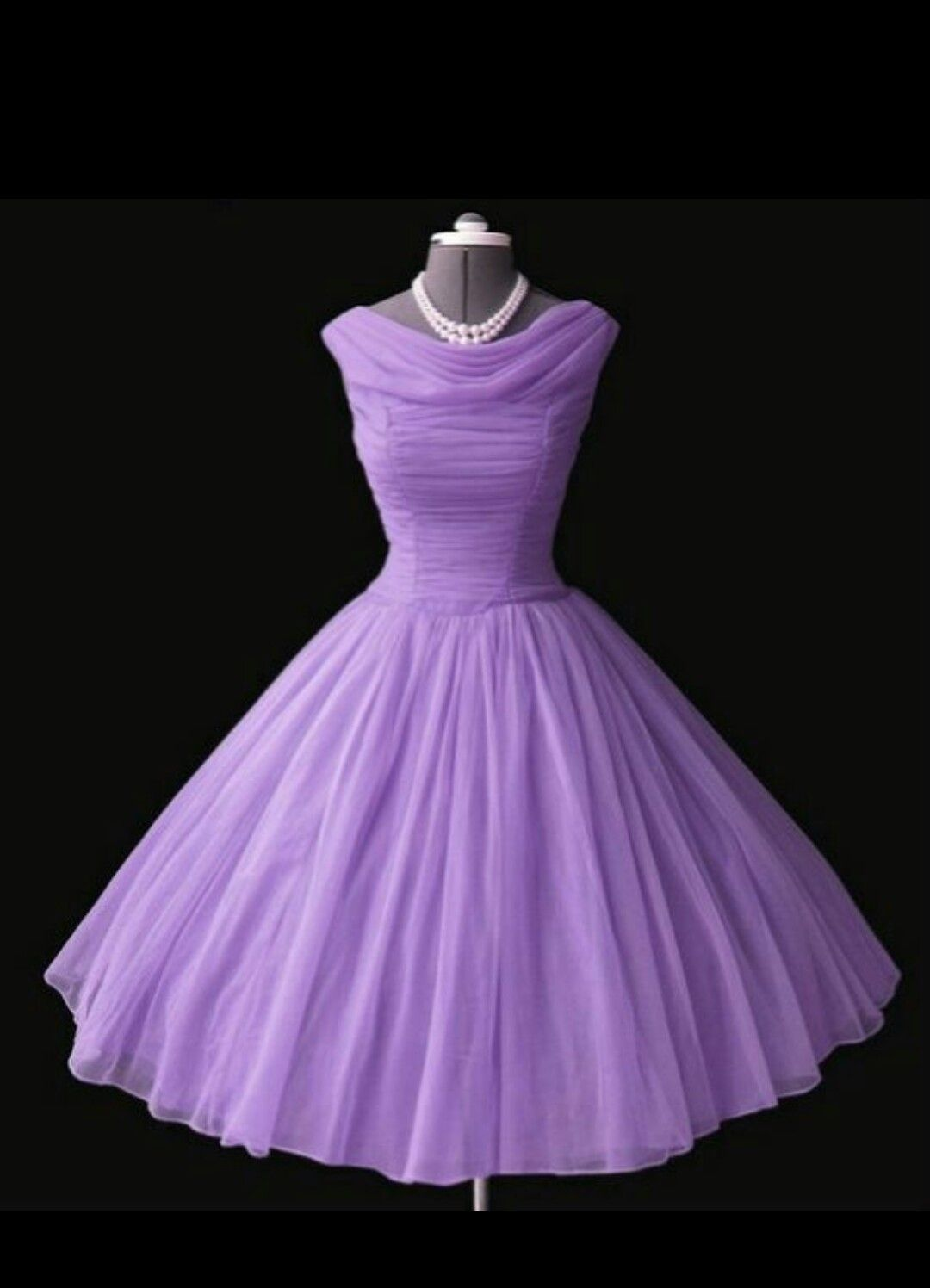 1950s lilac party dress | Romantic Clothing | Pinterest | Mujeres de ...