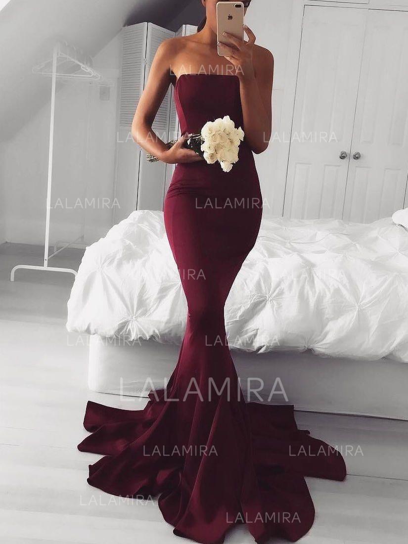 a35a8bc2274 Trumpet Mermaid Strapless Sweep Train Jersey Prom Dress (018145952) - Prom  Dresses -