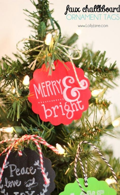 Faux Chalkboard Ornaments by Lolly Jane Kids Christmas/Winter