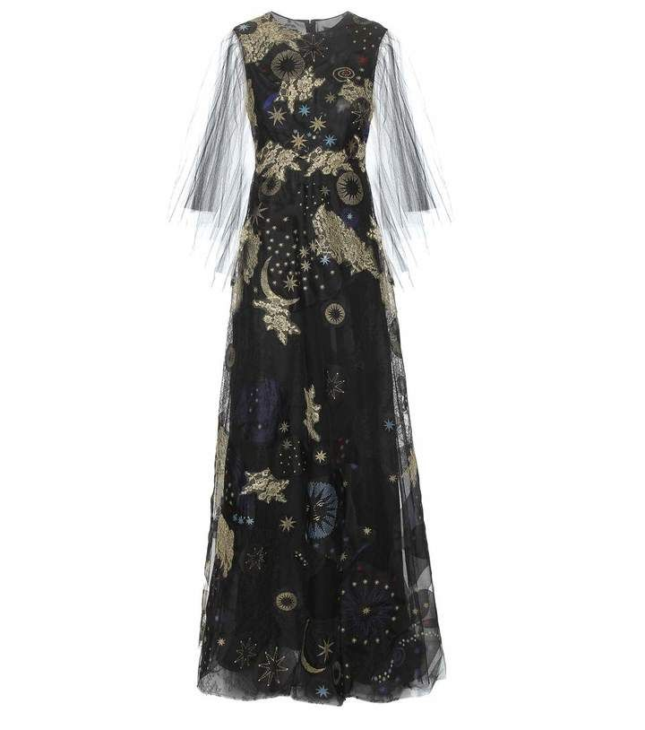 Valentino Embroidered printed gown