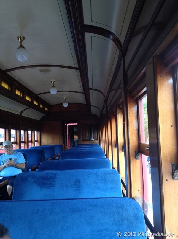 This is what the inside of the train looks like - Strasburg Railroad