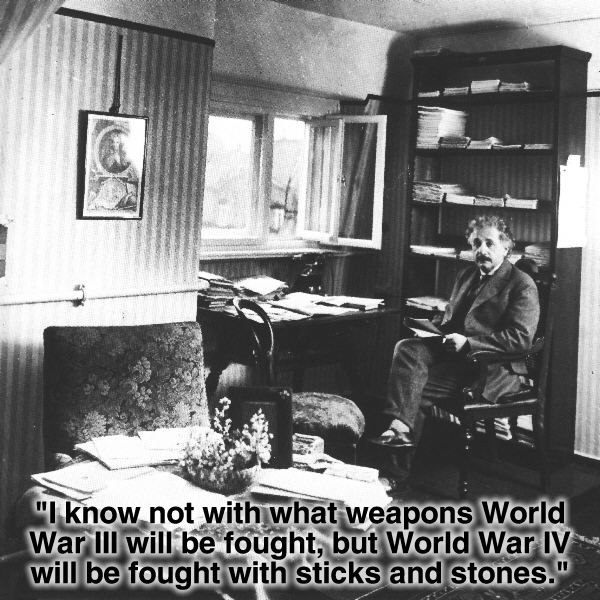 Einstein on World War III and IV