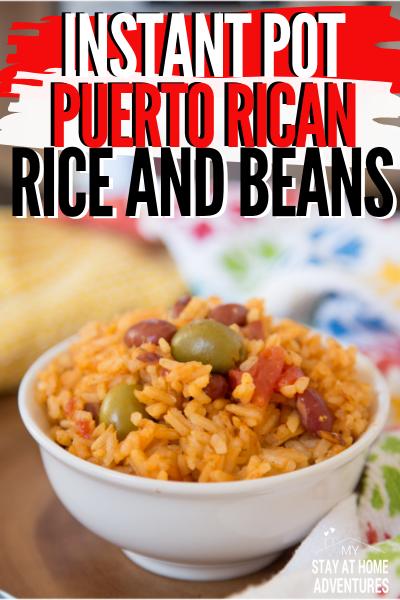 Instant Pot Arroz Con Habichuelas Puerto Rican Rice And Beans Vegan Instant Pot Recipes Instant Pot Dinner Recipes Instant Pot Beans And Rice Recipe