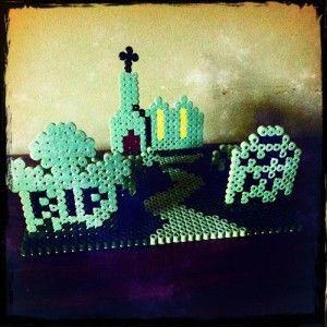 3D Spooky Graveyard Pattern in Hama Beads