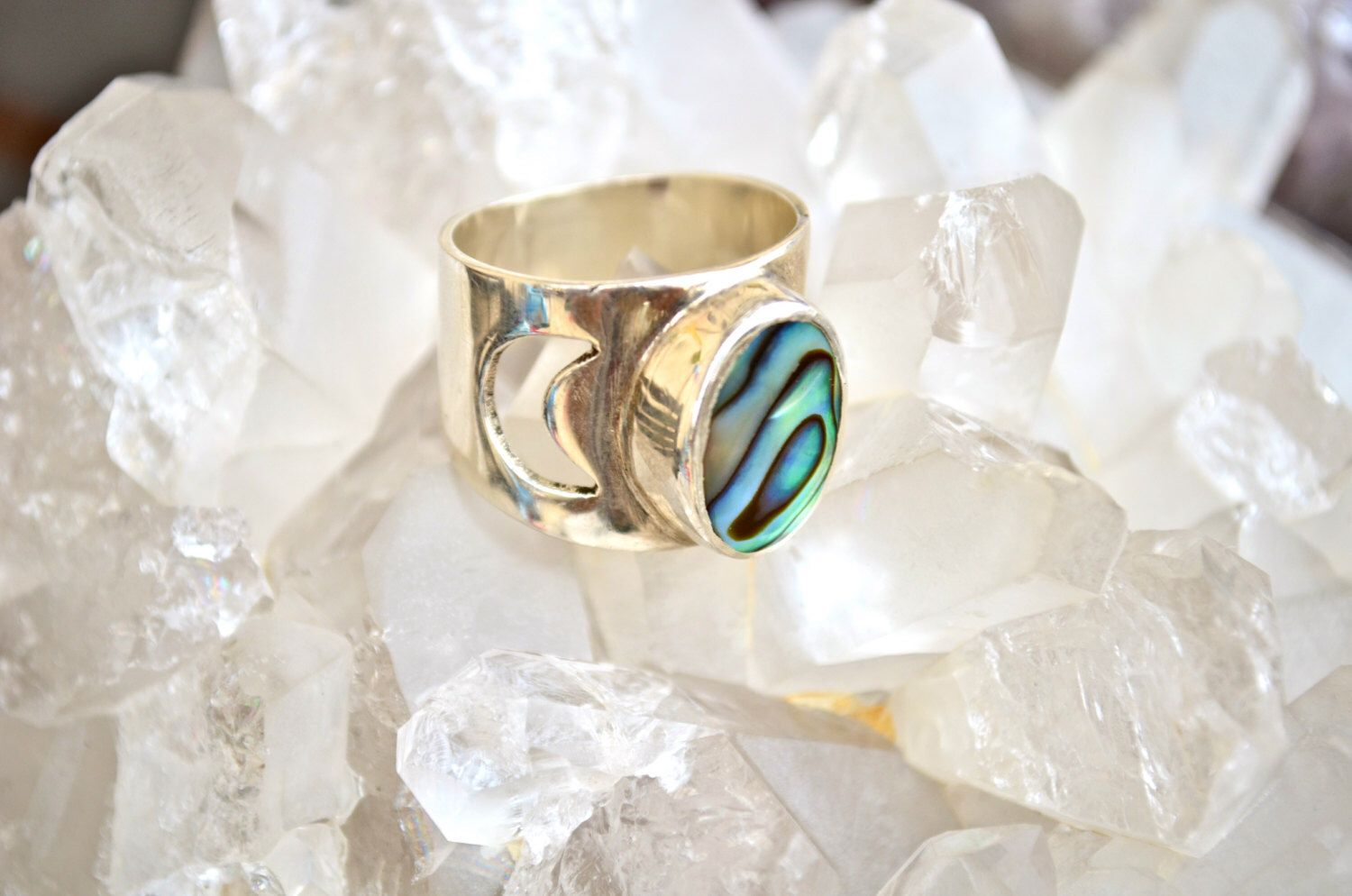 sterling abalone rings shell silver tangled tear wanderdusk ring of drop teardrop product round image