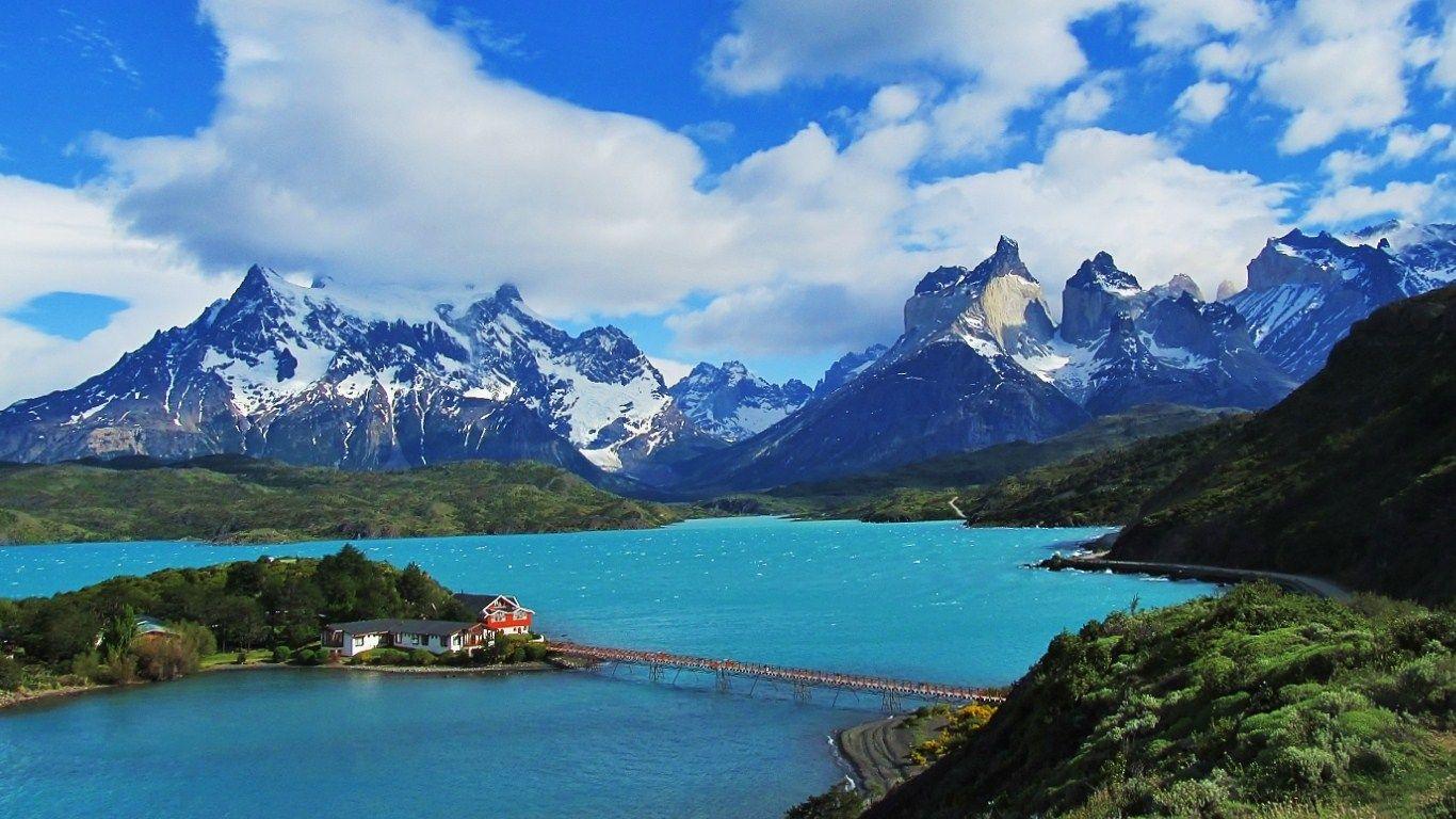 Torres Del Paine, Patagonia, Chile [OC] [1366x768] - Imgur