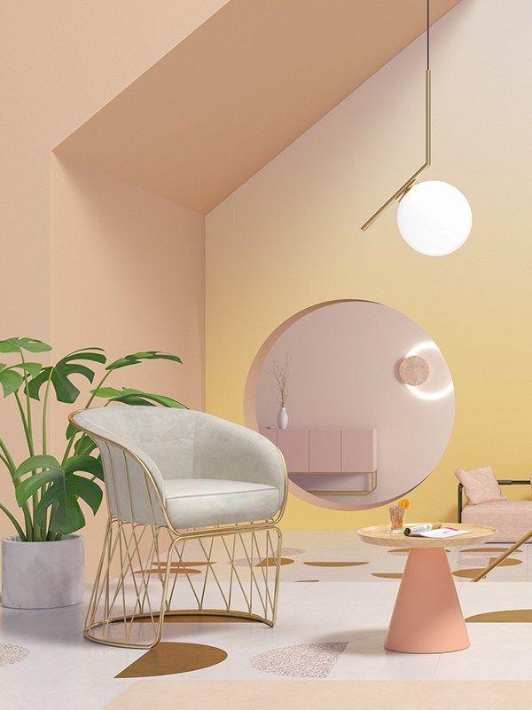 Interior Color Trends 2019 Pastel Pastel Interior Colorful