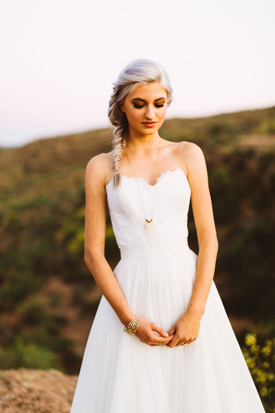 Sand + Succulents Shoot with Claire Hudson   Bridal gowns and Weddings
