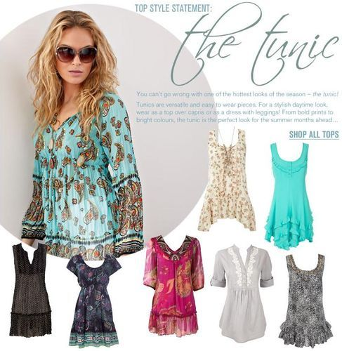 Images of Summer Tunic Tops - Reikian